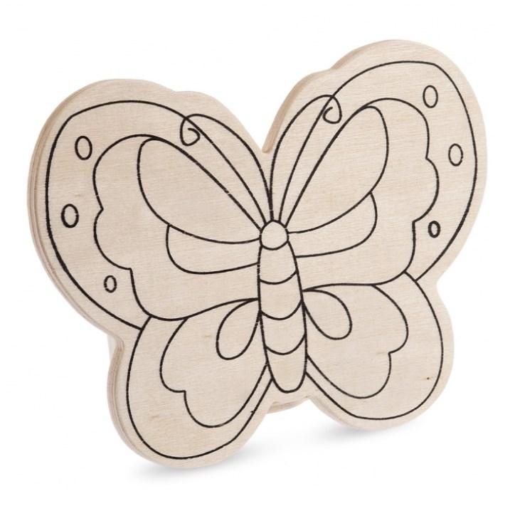 Ξύλινος κουμπαράς πεταλούδα